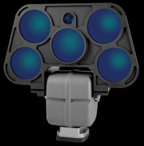 The eye-safe IR LED on the LightSpeed R50 allows non-visible communication between units at distance up to 6km